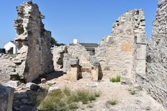 Fort McKavett ruins in Central Texas. This image was taken at Fort McKavett in Central Texas Sept of 2017 Royalty Free Stock Photo