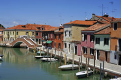 Murano -grand canal of island. Image was taken on June 2011 in Murano, Italy Royalty Free Stock Photo
