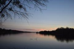 Lake Winnsboro. This image was taken at Lake Winnsboro in Texas near the lake, right at sunset Stock Photos