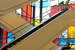 Escalator in Renoma mall in Wroclaw. Image was taken on March 2013 in Renoma big store in Wroclaw, Poland Stock Photo