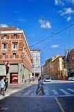 Bologna, Italy - July 08, 2013: Walking on the streets of Italy stock photography