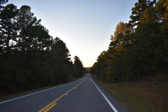 Road in Oklahoma. This image was taken in Southern Oklahoma. Just driving around in places i haven`t been Stock Photo