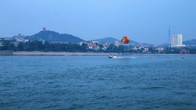 A pleasant view of Qingdao seaside scenery. The image was taken at zhanqiao of Qing dao seaside , July 20,2017 Royalty Free Stock Image