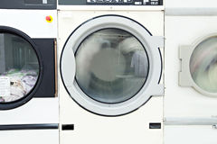 Image of washing machine drum, close-up Royalty Free Stock Photo