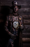 Image of watchmaker in bright fantasy stylization. Stock Photography