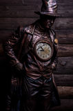 Image of watchmaker in bright fantasy stylization. Royalty Free Stock Photos