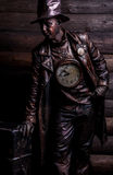 Image of watchmaker in bright fantasy stylization. Stock Images