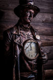 Image of watchmaker in bright fantasy stylization. Royalty Free Stock Photography