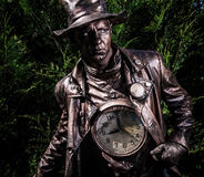 Image of watchmaker in bright fantasy stylization. Stock Image