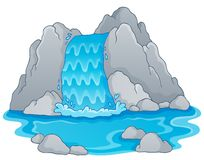 Image with waterfall theme 1 stock illustration