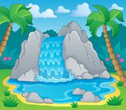 Image with waterfall theme 2 Royalty Free Stock Photo