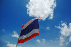 Image of waving Thai flag Royalty Free Stock Images