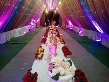 This is the image of wedding decoration which in many color light used royalty free stock images