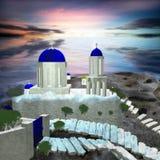 Image of white-blue Santorini Royalty Free Stock Photography
