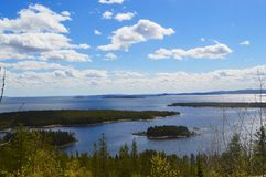 White Sea Kandalaksha Bay in June. Image of White Sea Kandalaksha Bay royalty free stock photography