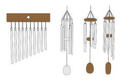 Image of wind chimes Royalty Free Stock Photos
