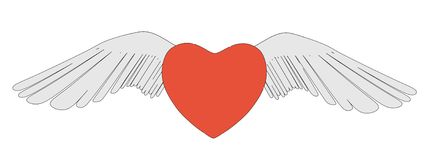 Image of winged heart Royalty Free Stock Image