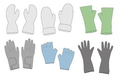 Image of winter gloves Royalty Free Stock Images
