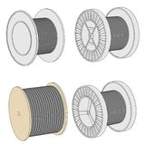 Image of wire spools Royalty Free Stock Image