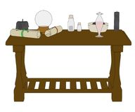 Image of witch table Royalty Free Stock Photos