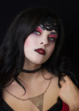 The image of the witch. Witch. Celebration. Makeup witches. Stock Images