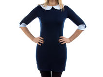 Image of woman with arms on hip Royalty Free Stock Photos