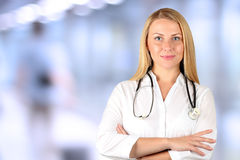 Image of woman doctor looking at camera Stock Images