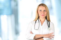 Image of woman  doctor  looking at camera Royalty Free Stock Photo