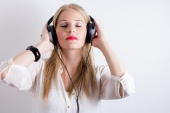 Image of Woman Listening To Music Royalty Free Stock Photo