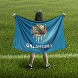 Women and Oklahoma flag stock images