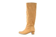 Image of women's leather boots yellow Royalty Free Stock Images