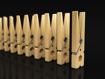 Image of Wooden clothespins Stock Images