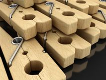 Image of Wooden clothespins Royalty Free Stock Photo