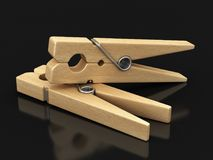 Image of Wooden clothespins Royalty Free Stock Images