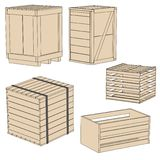Image of wooden crates Royalty Free Stock Photos