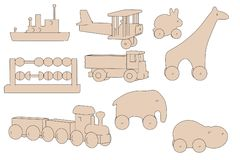 Image of wooden toys Royalty Free Stock Images