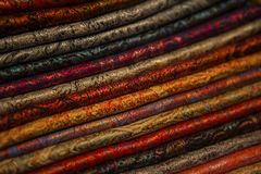 Image of wool and silk scarfs Royalty Free Stock Photos