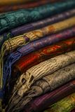 Image of wool and silk scarfs Stock Image