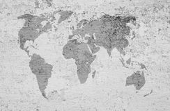 A image of a world map on a textured background Royalty Free Stock Photo