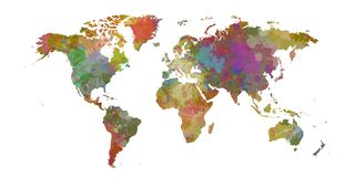 Colorist World map of colorist stains and shadows.