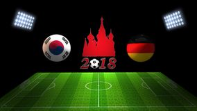 World Soccer Cup Match 2018 in Russia : South Korea vs. Germany,. Image of World Soccer Cup Match 2018 in Russia : South Korea vs. Germany, in 3D Stock Images