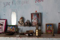 Worship Room of Hindus -India. Image of Worship room that followed by indian hindu community Royalty Free Stock Photo