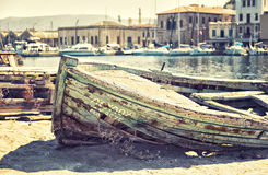 Wrecked boat Royalty Free Stock Photo