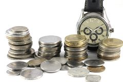 A Concept of Time and Money Stock Photos