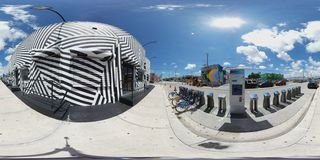 360 image of Wynwood Miami FL Royalty Free Stock Photos