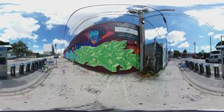 360 image of Wynwood Miami FL stock photography