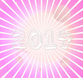 2014 image. Years number modern retro style Royalty Free Illustration