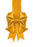 image of a yellow bow on a white background close-up Stock Photos
