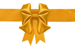 image of a yellow bow on a white background closeup Stock Photo