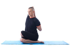 Image of yoga instructor posing in studio Royalty Free Stock Images